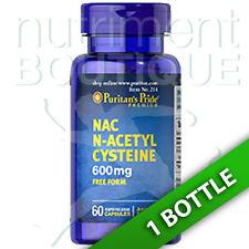 N-Acetyl Cysteine (NAC) 600 mg 60 Caps by Puritan's Pride