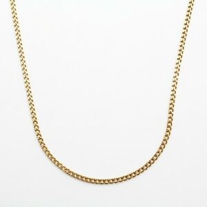 """14K YELLOW GOLD CURB CUBAN LINK CHAIN NECKLACE 24"""""""