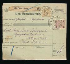 Post-Begleitadresse 1903 aus Mähr.Weisskirchen nach Wagstadt  (A27)