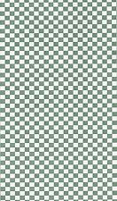 Small Green & White Check Wallpaper TRY8759