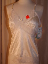 NOS NWT Lady Camille VTG 1960s Ivory SEE THRU LACE CAMI S Camisole Bra Slip NEW