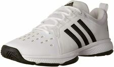 adidas Men's Barricade Classic Bounce Tennis Shoe, White/Black, 5 D(M) US