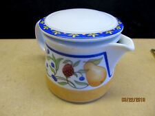 "DANSK  ""FIANCE FRUITS"" (THAILAND) CREAMER / CREAM PITCHER WITH LID"