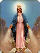 Magnet Hl Maria Mutter Gottes Immaculata Gnadenspenderin Holz 6 x 4,5cm MAG 4024