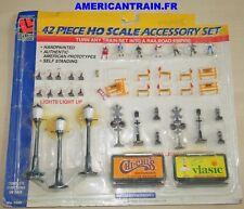 Pack de 42 pièces accessoires US HO 1/87 Life-Like