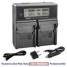 Kastar Battery LCD Dual Fast Charger for FV100 & Sony DCR-SX73 DCR-SX83 DCR-SX85