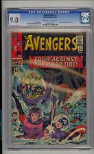 Avengers #27 CGC 9.0 VF/NM Unrestored Marvel Attuma & Beetle OFF-WHITE to WHITE