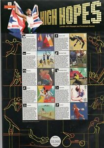 LS500 GB 2012 London Olympics 'High Hopes' LIMITED EDITION SMILERS SHEET
