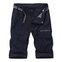 Quick Dry Mens Cargo Shorts Hiking Capri Pants Cycling Fishing Shorts Work Pants