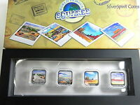 2013 WORLD FAMOUS SQUARES Four Coin Set Silver Coin Collection