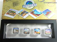 2013 WORLD FAMOUS SQUARES Silver Coin Collection