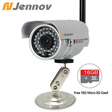 HD 720P Wifi IP Camera Outdoor Night Vision Wireless Network Security Cam 16G TF