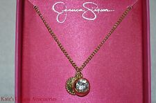 Jessica Simpson Goldtone Holiday Gifting Boxed Shiny Pendants Necklace Gift Idea