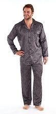 Mens Traditional Classic Style Satin Paisley Print Pyjamas Nightwear Set Pjs