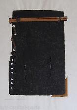 KALINOWSKI HORST EGON LINOGRAVURE 1993 SIGNÉE CRAYON MONOTYPE HANDSIGNED LINOCUT