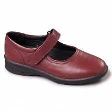 8d158b5b168 Padders Sprite 2 Ladies Embroidered Extra Wide Plus Fit Velcro Shoes Cherry  Red UK 6.5