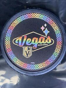 Vegas Golden Knights 2021 Pride 3D Puck 🌈