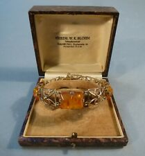 Art Deco Schmuck Armband Gold 333 Bernstein Amber 19 cm um 1930