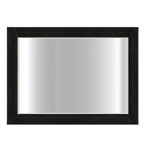 1200 x 800 mm Modern Design Black Glass Framed Bathroom Mirror - 5 mm