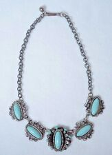 "Vintage Prote Ornate Turquoise Necklace 9"" Drop"