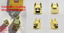 LEGO BATMAN HELMET CHROME GOLD GENUINE CUSTOM HIGHEST BEST QUALITY MONOCHROME