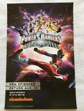 "THE POWER RANGERS - 11""X17""Original TV Promo Poster SDCC 2017 MINT Nickelodeon"