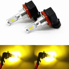 2x 72W H11 H8 H9 3000K Yellow High Power CSP LED Fog Lights Driving Bulb DRL