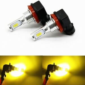2x 72W H11 H8 H9 3000K Yellow High Power CSP LED Fog Lights Driving Bulb DRL