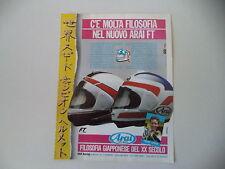 advertising Pubblicità 1987SCO HELMET ARAI e FREDDIE SPENCER