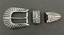 Fancy Pat Areias Sterling Silver .925 Belt buckle ~ 3 pieces