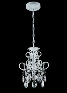 Smart Lighting Shupregu White With Clear Crystals Mini Chandelier