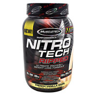 Muscletech Nitro Tech RIPPED Protein 2 lbs, 21 Servings FRENCH VANILLA SWIRL