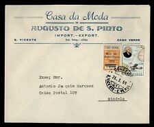 Dr Who 1969 Cape Verde Ovpt S Vicente To Mindelo Advertising f59974