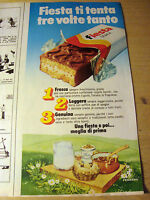 PUBBLICITA' ADVERTISING WERBUNG 1980 FIESTA SNACK
