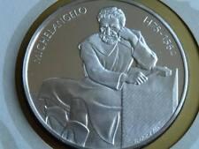 Lot 4 39mm argent reproduction argent médaille Michelangelo