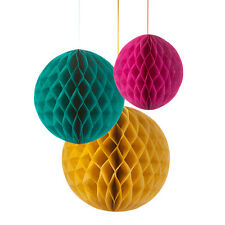 3 Honeycomb Tissue Paper Party Hanging Wedding Decorations Bright Floral Fiesta