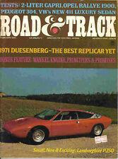 Road & Track 1971 Feb peugeot vw capri opel rallye race