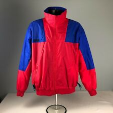 VTG COLUMBIA radial sleeve full zip red / blue ski shell color block L JACKET