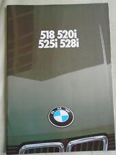 BMW 518i, 520i, 525i, 528i range brochure 1981 Ed 2