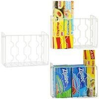 Kitchen Wrap Cabinet Organizer Wall Mount Pantry Closet Door Rack Storage Steel