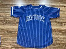 Vintage University Kentucky Wildcats Pinstripe 90s Starter Baseball Jersey Large