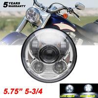 "Chrome 5.75"" 5 3/4 in LED Motorcycle Headlight For Harley Sportster 1200 883 48"
