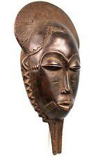 Art Africain - Masque Baoulé à Poignée - Traces d'usures - African Mask - 35 Cms