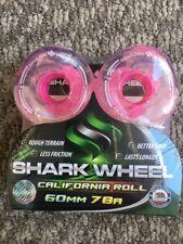 Shark Wheels Longboard Sidewinder Tech 60mm 78a Clear Pink Core W Lettering New!