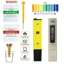 Digital PH Meter + TDS Tester Aquarium Pool SPA Water Quality Monitor PPM Pen