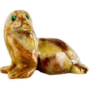 Peruvian Dolomite SEAL Spirit Animal, Pocket Totem!