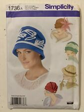 Simplicity Sewing Pattern 1736 Misses Girls Womans Winter Hats Hat