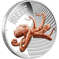Australian Sea Life II - The Reef - Octopus 2012 1/2oz Silver Proof Coin
