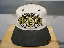 VINTAGE #1 APPAREL NHL BOSTON BRUINS WHITE/BLACK SEWN 6 3/4 FITTED NWT 90s
