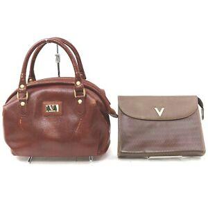 VALENTINO MARIO VALENTINO Leather PVC Hand Bag Clutch 2 pieces set 518943